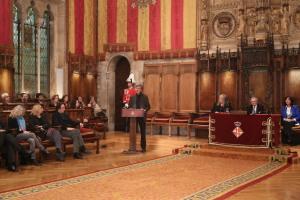 Rafael Argullol. Entrega de la Medalla d'Or al Mèrit Cívic a l'Hospital del Mar